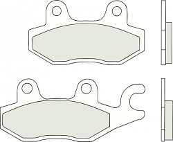 BREMBO Braking Pads Front Carbon-Ceramic TRIUMPH TIGER (left cal.) 900 1992 - 1998 07YA2206